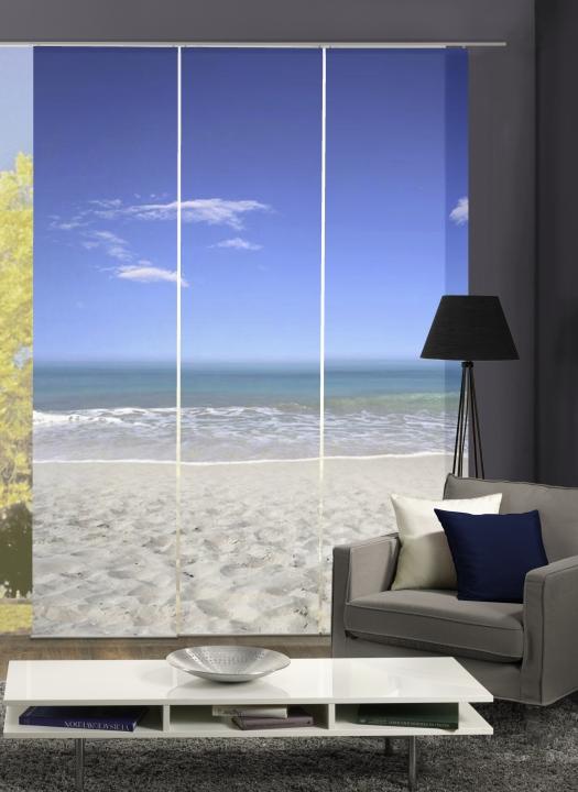 3er set fl chenvorhang deko blickdicht sea h he 245 cm 3x dessin 4061419012806 ebay. Black Bedroom Furniture Sets. Home Design Ideas