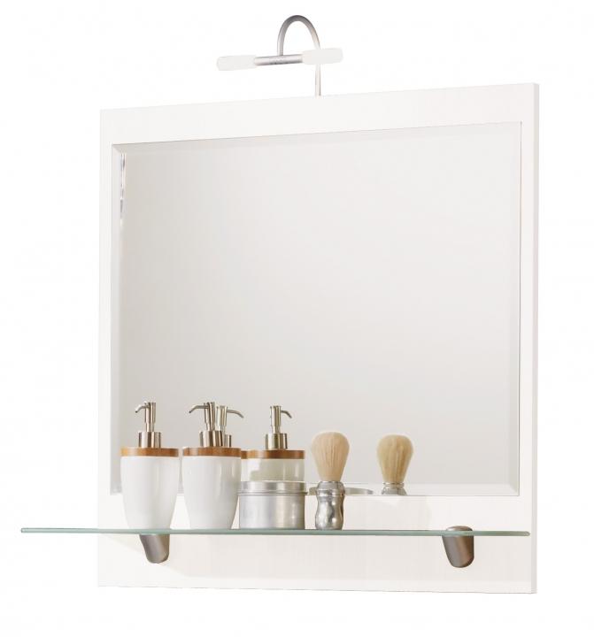 posseik spiegel salona mit beleuchtung wei 4061419020252 ebay. Black Bedroom Furniture Sets. Home Design Ideas