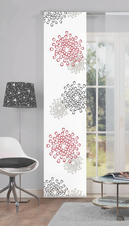 schiebevorhang irina rot online kaufen. Black Bedroom Furniture Sets. Home Design Ideas