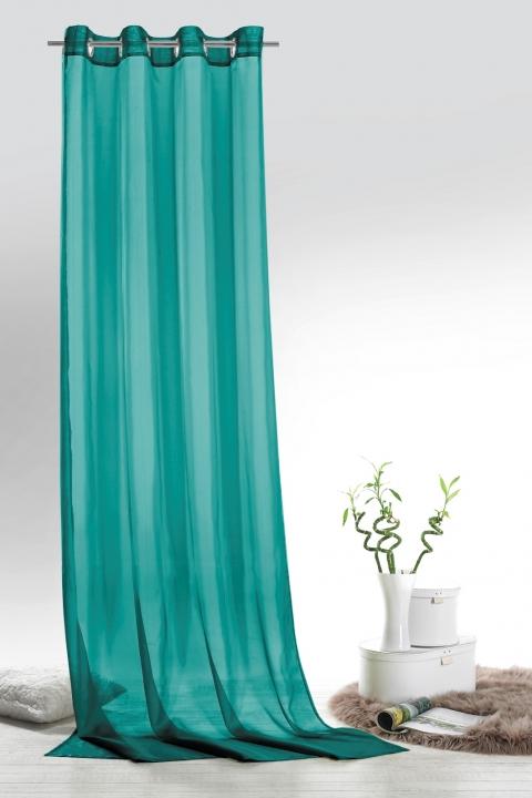 voile senschal leara transparent farbe petrol hxb 245x140 cm ebay. Black Bedroom Furniture Sets. Home Design Ideas