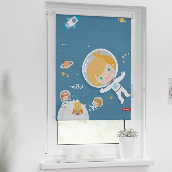 rollo verdunklungsrollo astronaut blau kaufen. Black Bedroom Furniture Sets. Home Design Ideas