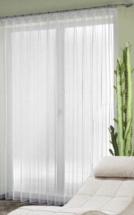 fertig store samoa voile l ngsstreifen mit faltenband 1. Black Bedroom Furniture Sets. Home Design Ideas