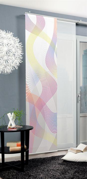 schiebevorhang deko blickdicht cavallone fb multi gr e bxh 60x245 cm ebay. Black Bedroom Furniture Sets. Home Design Ideas