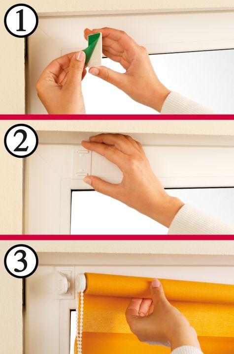 gardinia easyfix rollo thermo fb weiss zum klemmen und kleben ebay. Black Bedroom Furniture Sets. Home Design Ideas