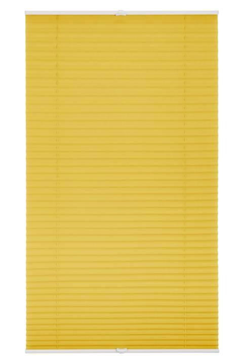 plissee faltstore gelb 120x130 cm verspannt. Black Bedroom Furniture Sets. Home Design Ideas