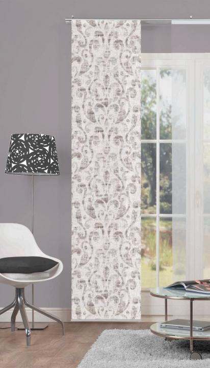 schiebevorhang deko blickdicht ferrara gr e bxh 60x245 cm rose ebay. Black Bedroom Furniture Sets. Home Design Ideas