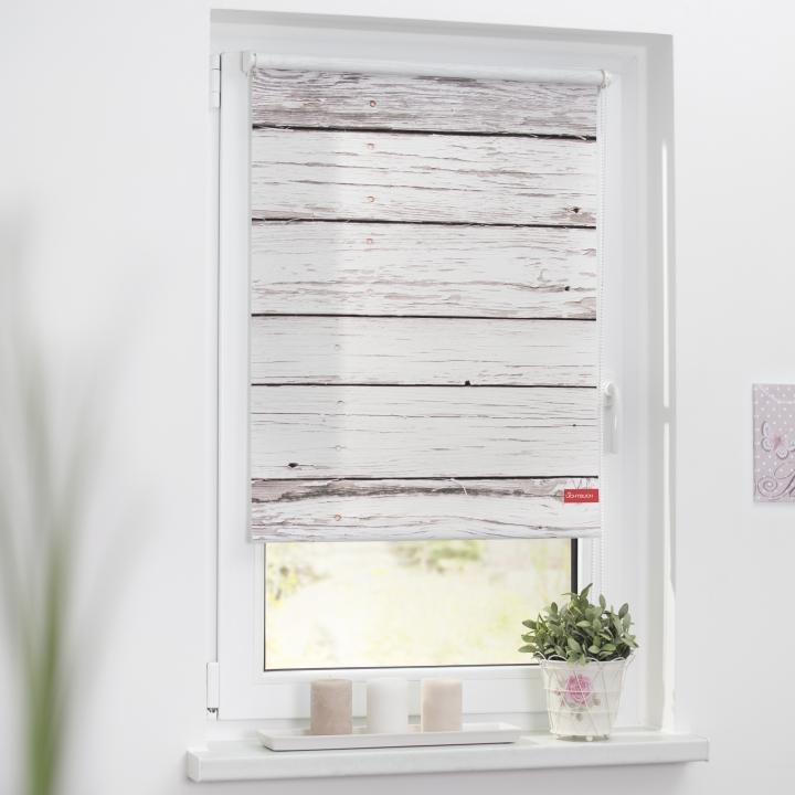 lichtblick rollo klemmfix ohne bohren blickdicht bretter farbe wei grau ebay. Black Bedroom Furniture Sets. Home Design Ideas
