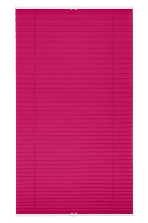 plissee, faltstore fuchsia 85x130 cm, verspannt, Hause ideen