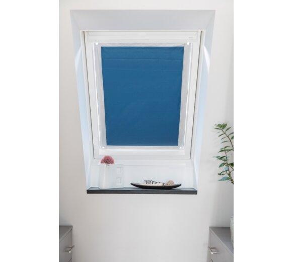 dachfenster sonnenschutz blau 94x113 5 cm wohnfuehlidee. Black Bedroom Furniture Sets. Home Design Ideas