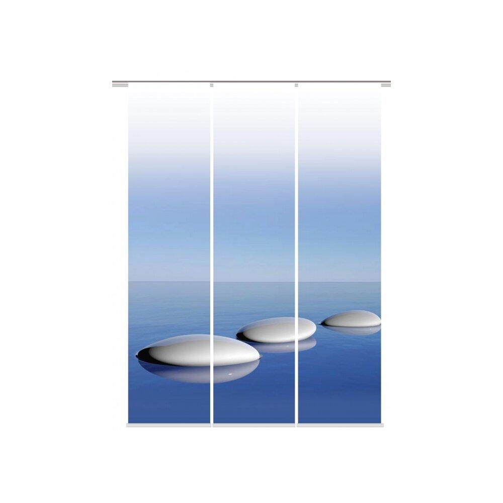 fl chenvorh nge 3er set blue online kaufen. Black Bedroom Furniture Sets. Home Design Ideas