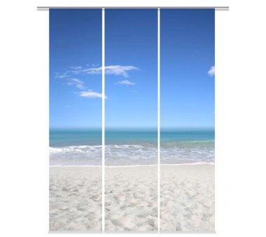 3er-Set Flächenvorhang, Deko blickdicht, SEA,...