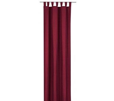 Deko-Einzelschal blickdicht, mit Schlaufen, Farbe bordeaux