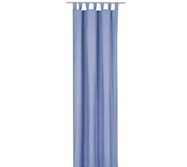 Deko-Einzelschal blickdicht, mit Schlaufen, Farbe hellblau