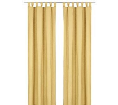 Deko-Einzelschal blickdicht, mit Schlaufen, Farbe gelb