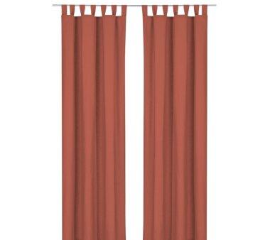 Deko-Einzelschal blickdicht, mit Schlaufen, Farbe terra