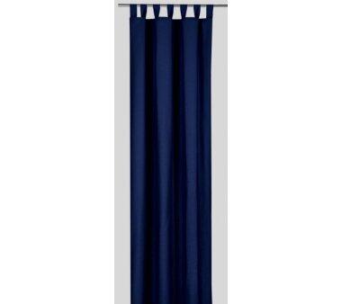 Deko-Einzelschal blickdicht, mit Schlaufen, Farbe dunkelblau