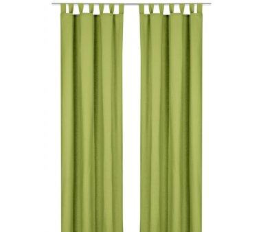 Deko-Einzelschal blickdicht, mit Schlaufen, Farbe grün