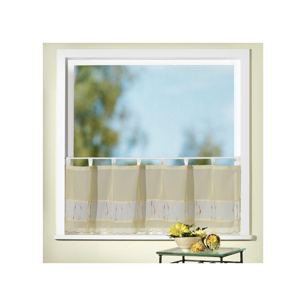 bistrogardine gelb mit stickerei online kaufen. Black Bedroom Furniture Sets. Home Design Ideas
