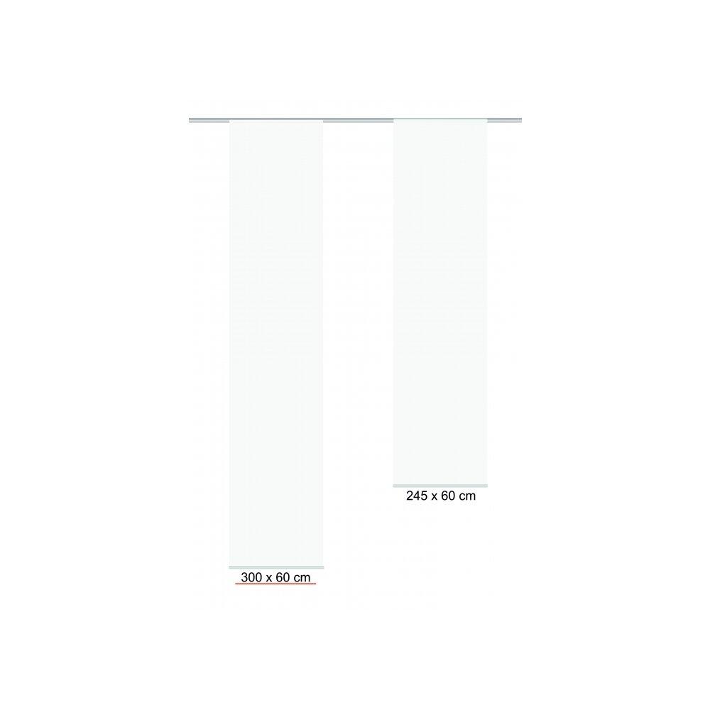 schiebevorhang rom wei 60x300 cm home wohnideee
