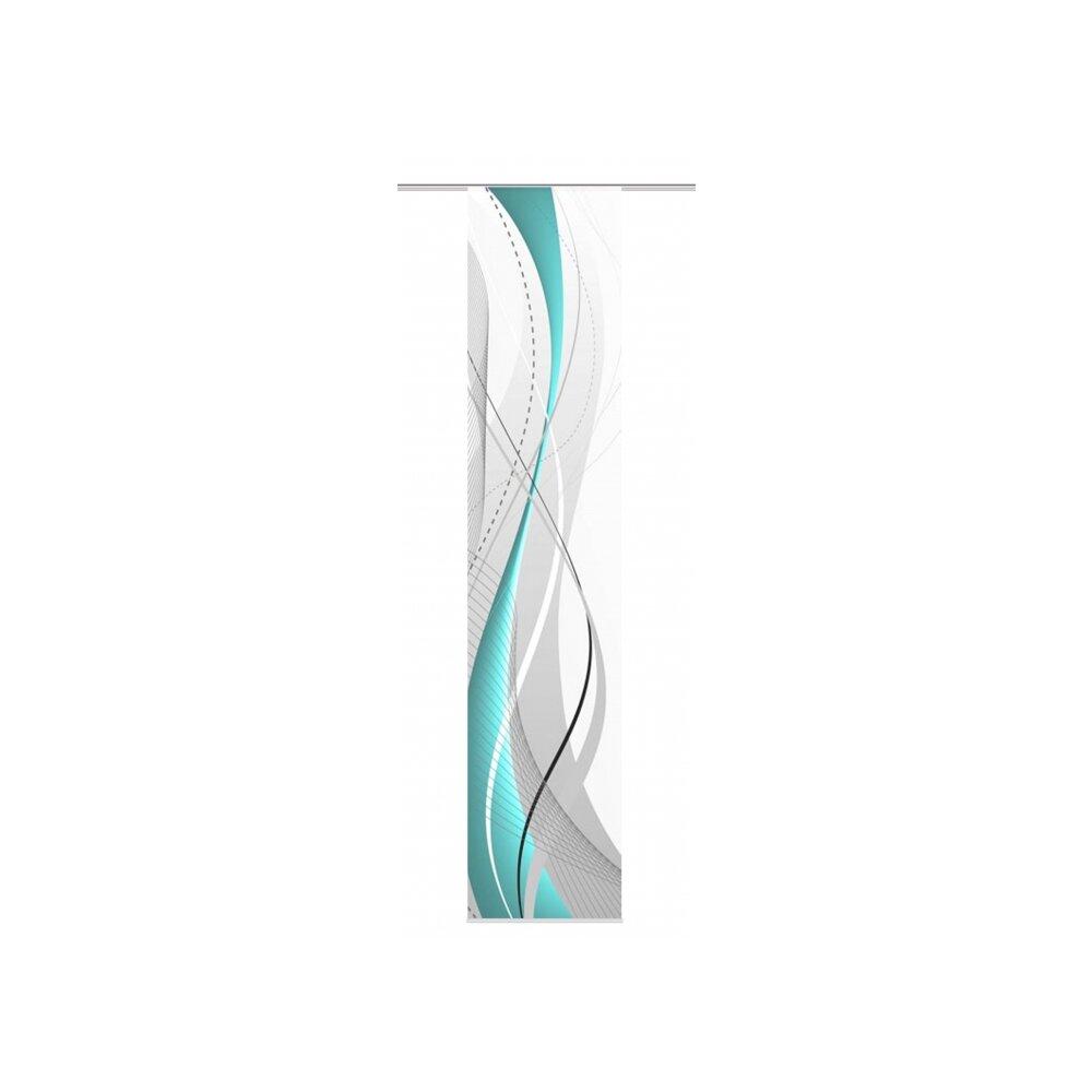 schiebevorhang carlisle petrol 60x300. Black Bedroom Furniture Sets. Home Design Ideas