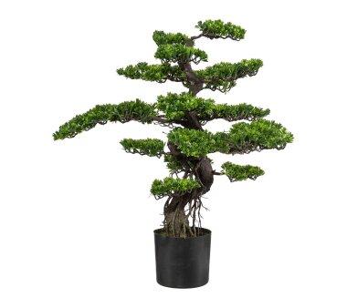 Kunstpflanze Bonsai grün, im Kunststoff-Topf,...
