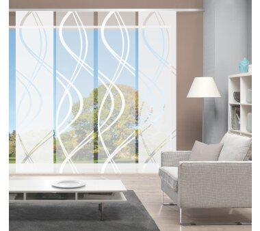 4er-Set Schiebevorhang, blickdicht / transparent, JOANNA,...