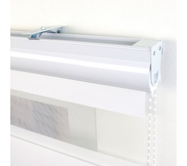 LIEDECO Duo-Rollo, Streifen 20 cm, mit Kassette, weiß