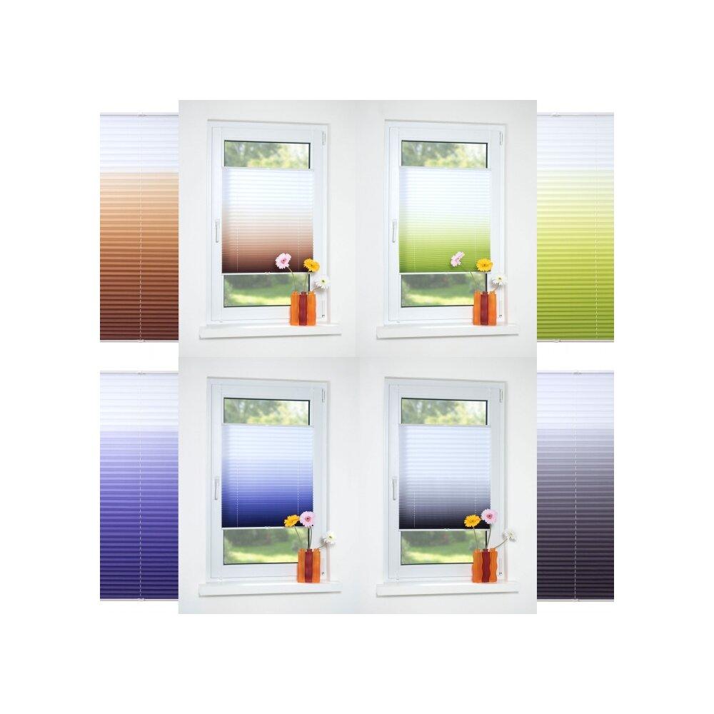 plissee faltstore farbverlauf blau liedeco. Black Bedroom Furniture Sets. Home Design Ideas