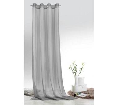 Voile-Ösenschal Leara transparent, Farbe grau, HxB...