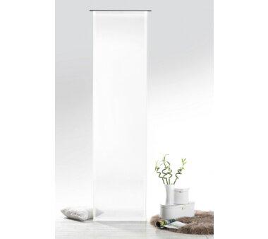Voile Schiebevorhang Josie Transparent, Farbe Weiß, HxB.