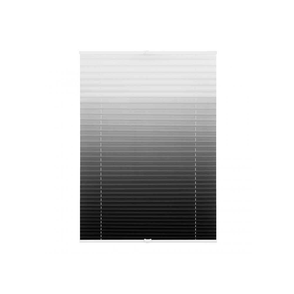 plissee verspannt farbverlauf grau kaufen wohnfuehlidee. Black Bedroom Furniture Sets. Home Design Ideas