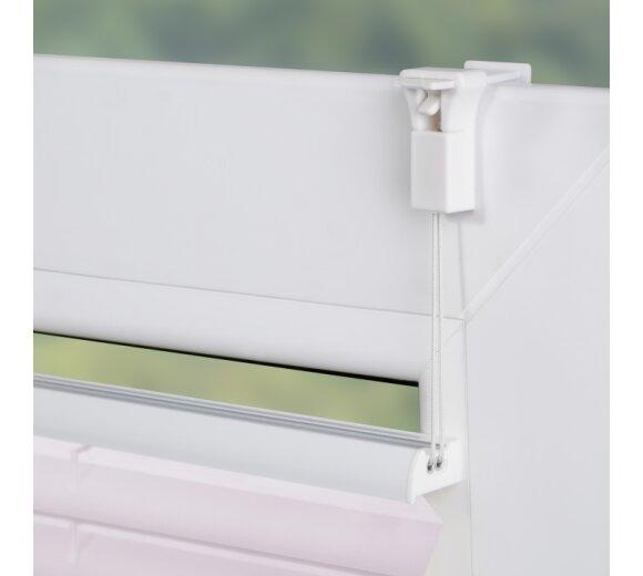 plissee farbverlauf taupe verspannt bei wohnfuehlidee. Black Bedroom Furniture Sets. Home Design Ideas