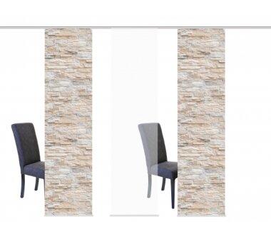 3er-Set Flächenvorhang, 088149-1107, blickdicht,...