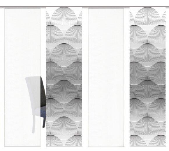 schiebegardinen set 4 tlg arlena grau kaufen. Black Bedroom Furniture Sets. Home Design Ideas