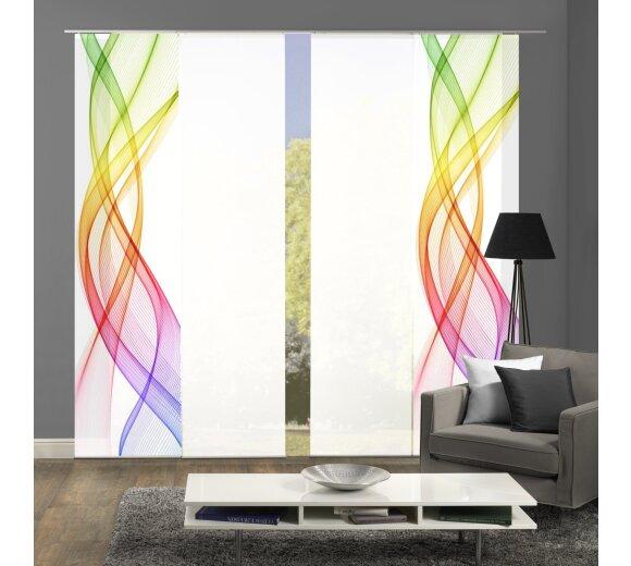 schiebevorhang set 4 er mariella multicolor kaufen. Black Bedroom Furniture Sets. Home Design Ideas