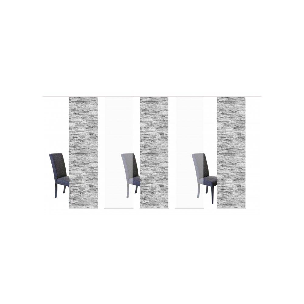 schiebegardinen set 5 tlg franzi anthrazit. Black Bedroom Furniture Sets. Home Design Ideas