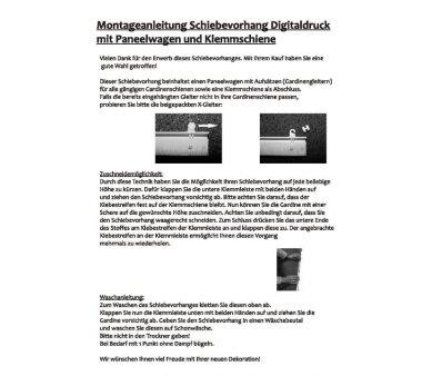5er-Set Schiebevorhang, 095320-0307, blickdicht, JENNIFER, Höhe 245 cm, grau