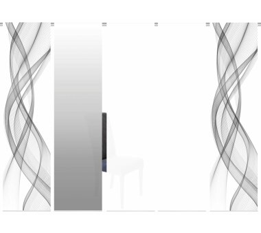 5er-Set Schiebevorhang (095575-0703), Deko blickdicht,...
