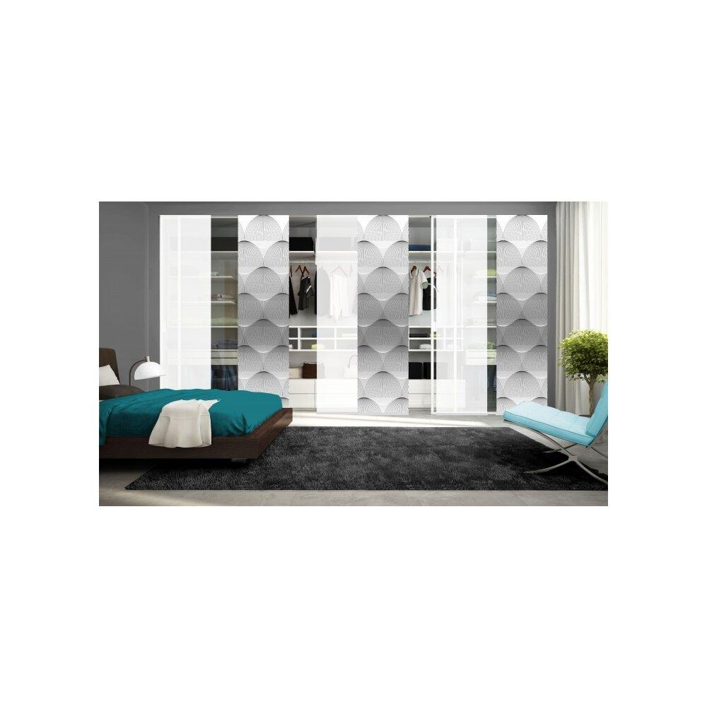 schiebegardinen set 6 tlg arlena grau kaufen. Black Bedroom Furniture Sets. Home Design Ideas