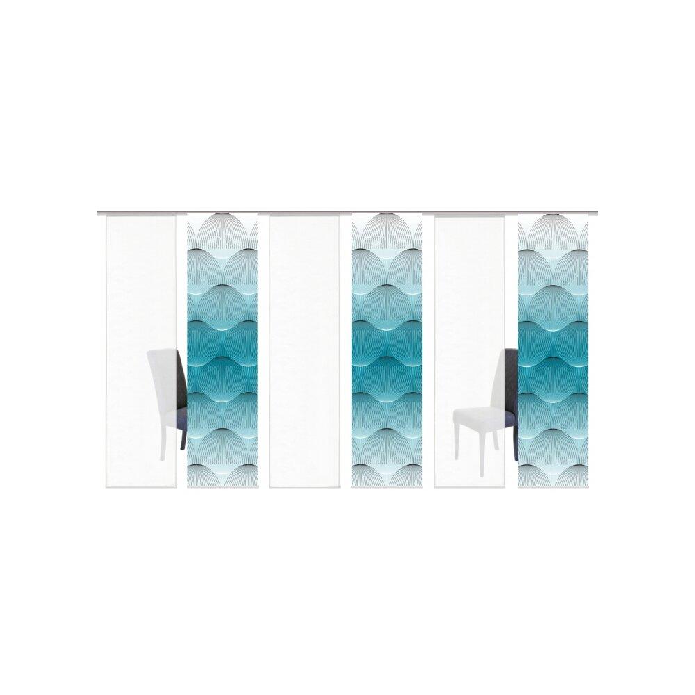 schiebegardinen set 6 tlg arlena petrol kaufen. Black Bedroom Furniture Sets. Home Design Ideas