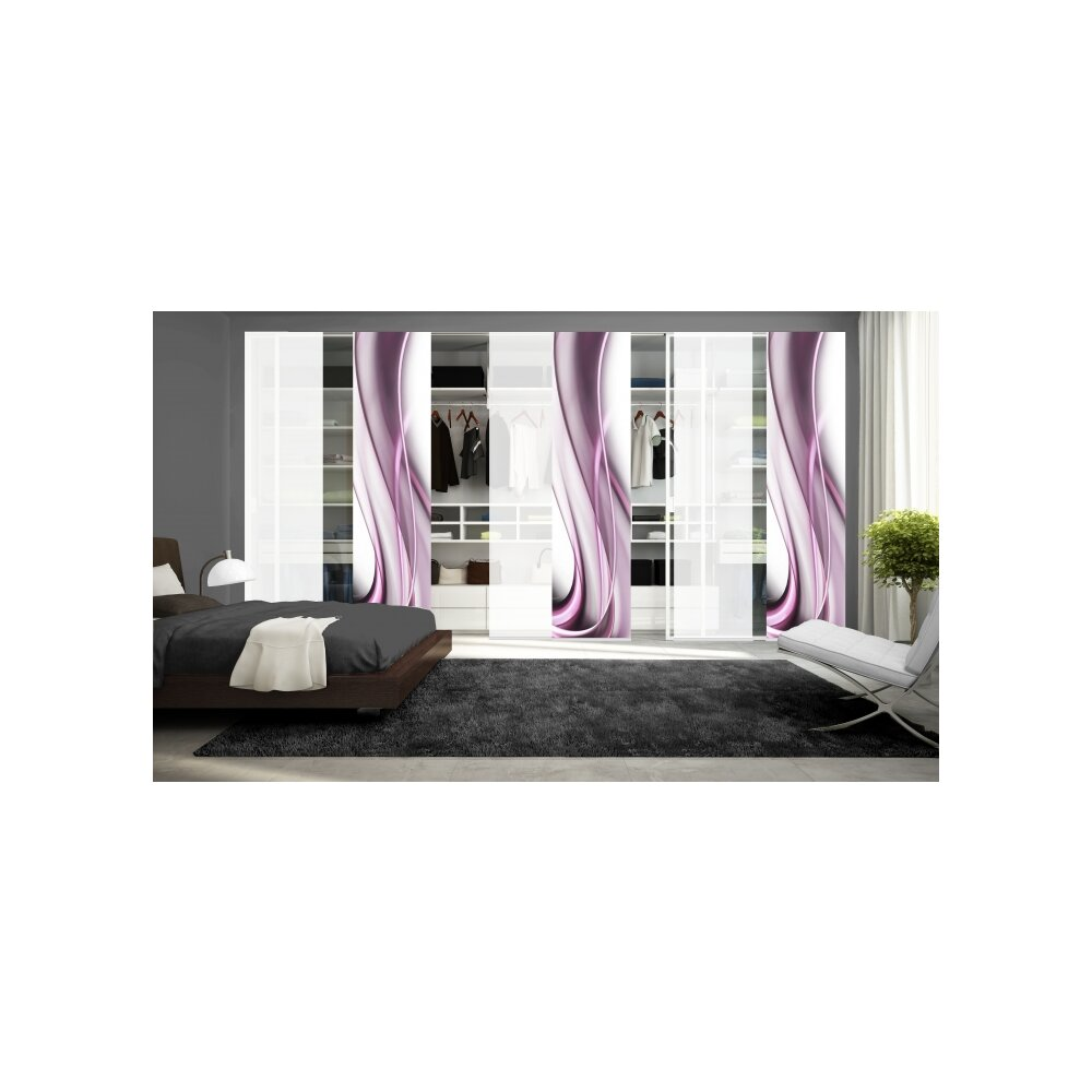 schiebegardinen 6er set franka beere wohnfuehlidee. Black Bedroom Furniture Sets. Home Design Ideas