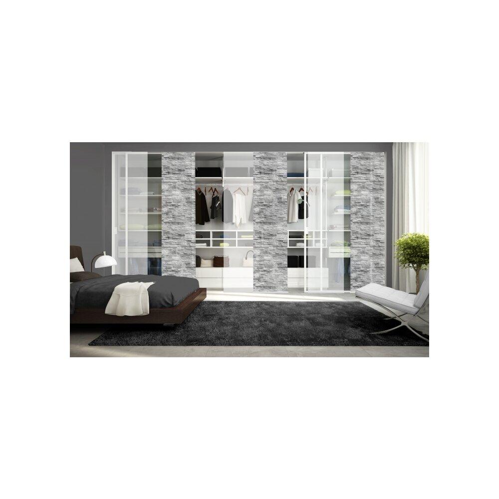 schiebegardinen set 6 tlg franzi anthrazit. Black Bedroom Furniture Sets. Home Design Ideas