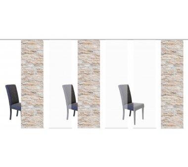 6er-Set Flächenvorhang, 096149-1107, blickdicht,...