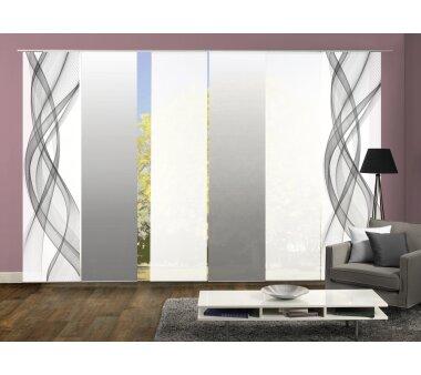 schiebevorhang 6er set online kaufen wohnfuehlidee. Black Bedroom Furniture Sets. Home Design Ideas