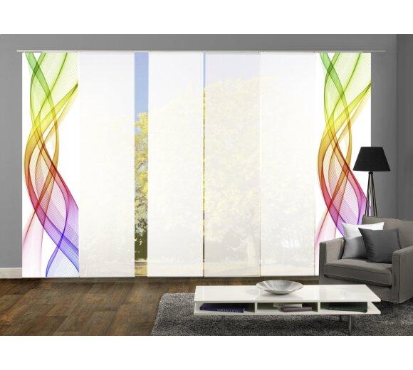 schiebegardinen set 6 er mariella multicolor g nstig. Black Bedroom Furniture Sets. Home Design Ideas