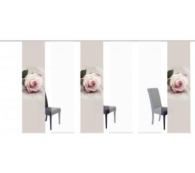 6er-Set Flächenvorhang, 096245-0705, blickdicht,...