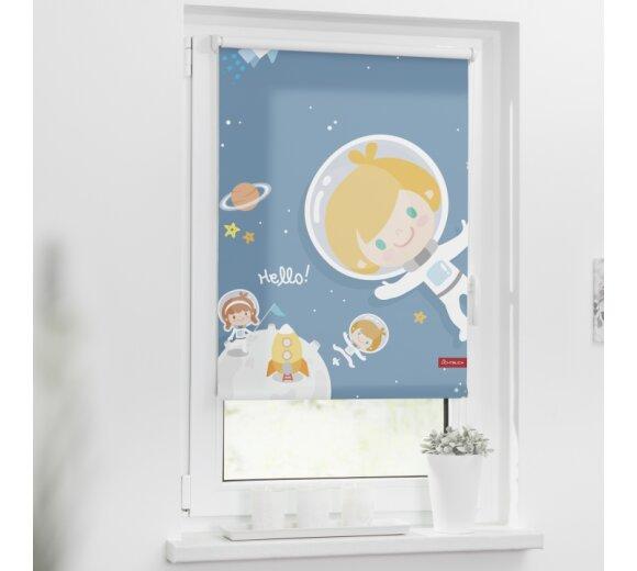 Lichtblick Rollo Klemmfix Ohne Bohren Blickdicht Motiv Astronaut Farbe Blau