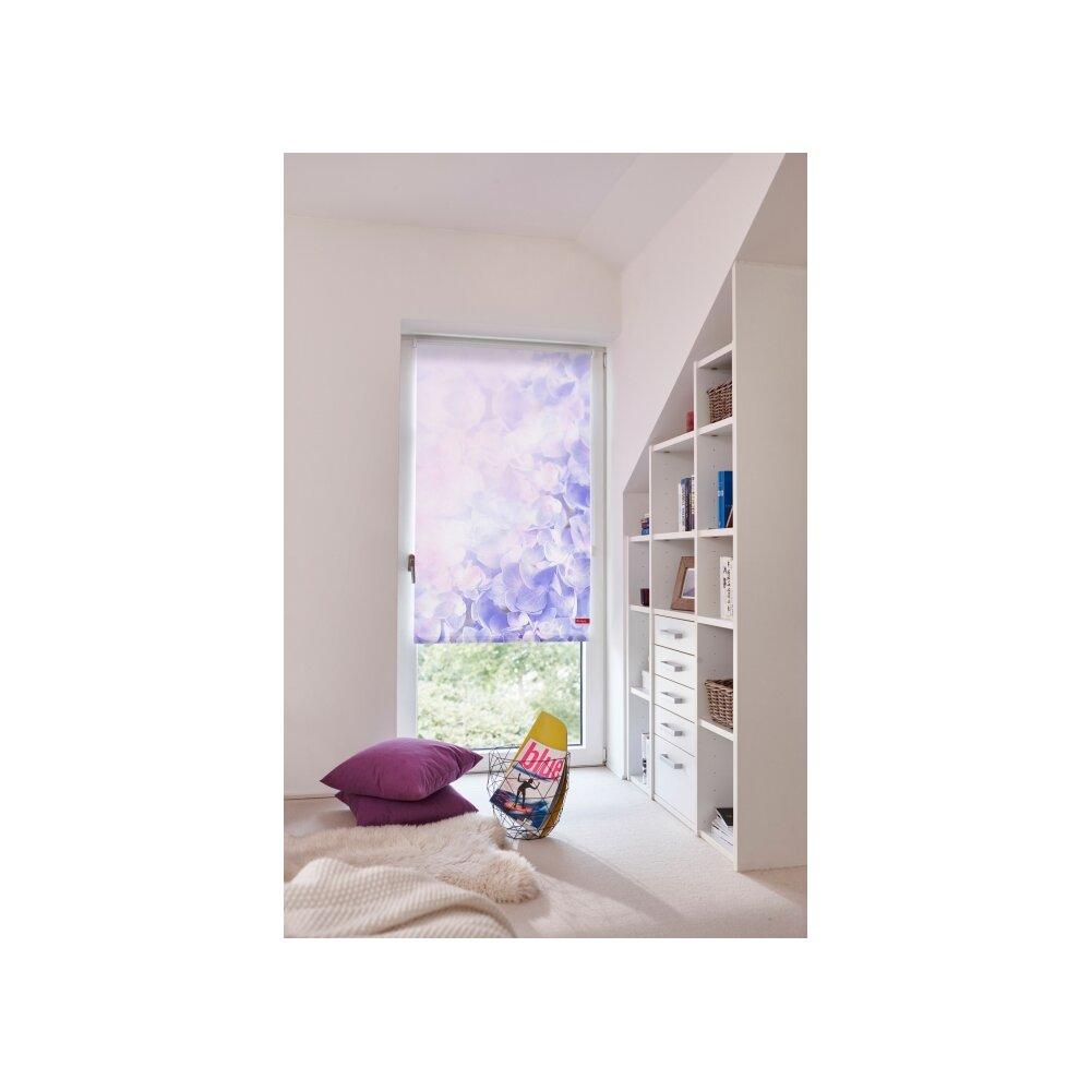 rollo seitenzugrollo hortensie online kaufen. Black Bedroom Furniture Sets. Home Design Ideas