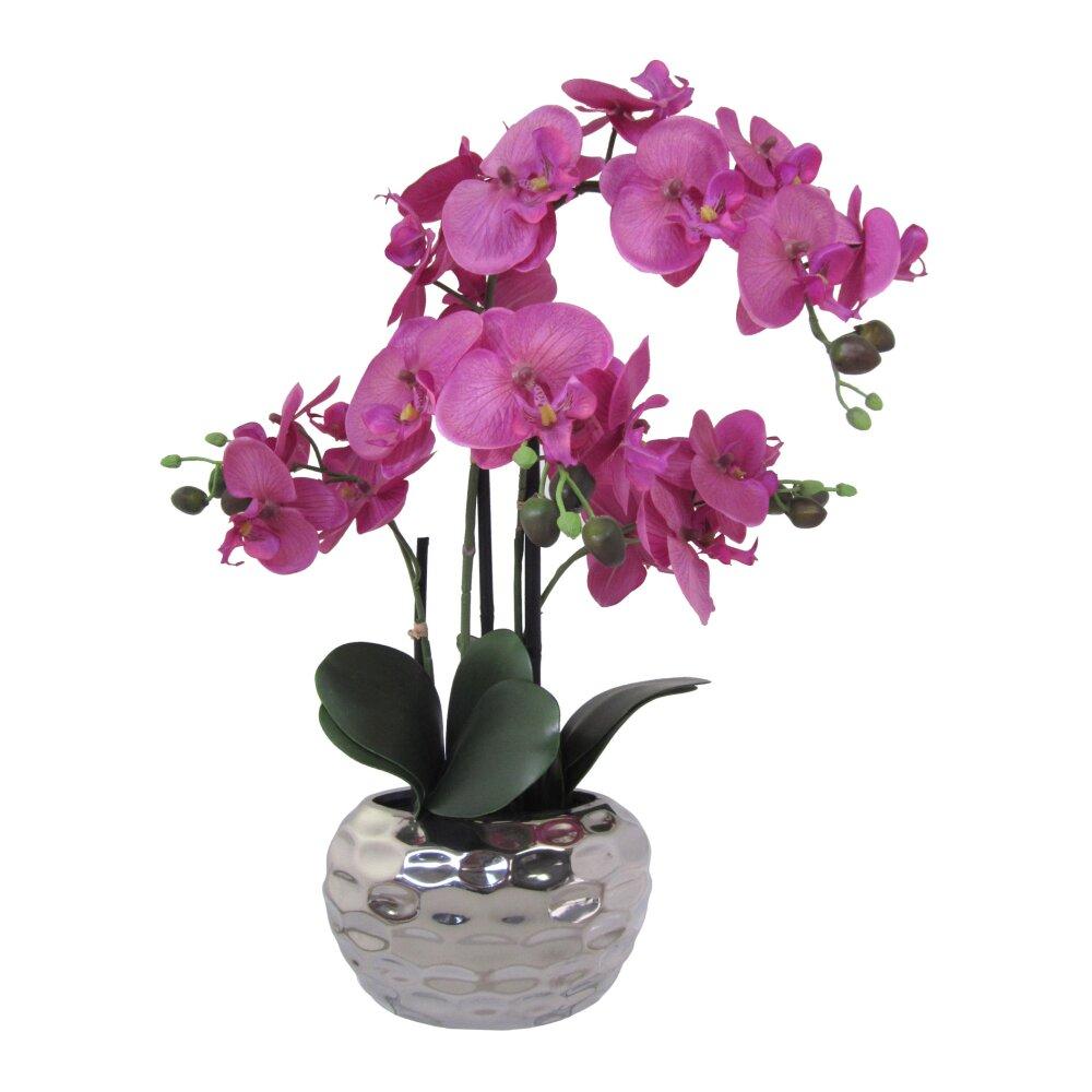 kunstpflanze phalenopsis violett 55 cm inkl vase. Black Bedroom Furniture Sets. Home Design Ideas