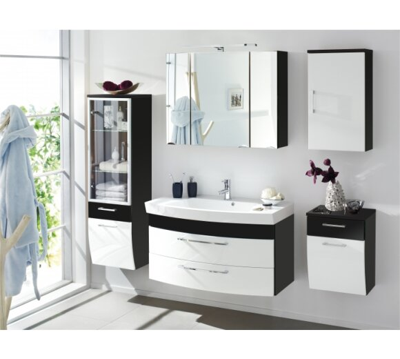 bad hochschrank florenz anthr wei geschw glas kaufen. Black Bedroom Furniture Sets. Home Design Ideas